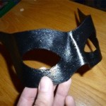 This mask modelled directly on the face for a superhero cosplay. If you play a little bit with the activation temperature you can regulate its mouldability very easy