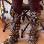 ...and the part of the shoe fits perfectly to the rest of her D3 Barbarian cosplay
