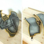 This is how the breastplate looked like after painting