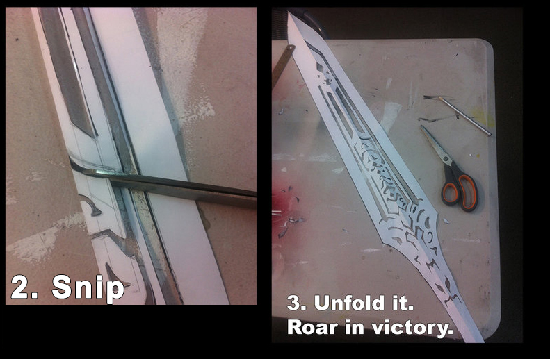 Creating A Sword With Foam And Worbla Worbla Thermoplastics