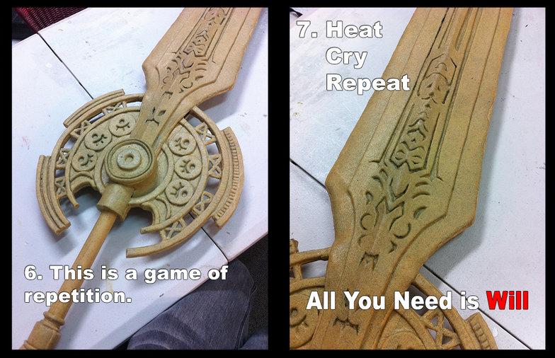 Creating A Sword With Foam And Worbla Worbla Thermoplastics
