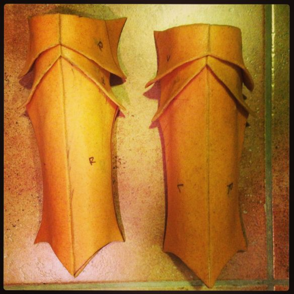 Ornstein Worbla shin armor
