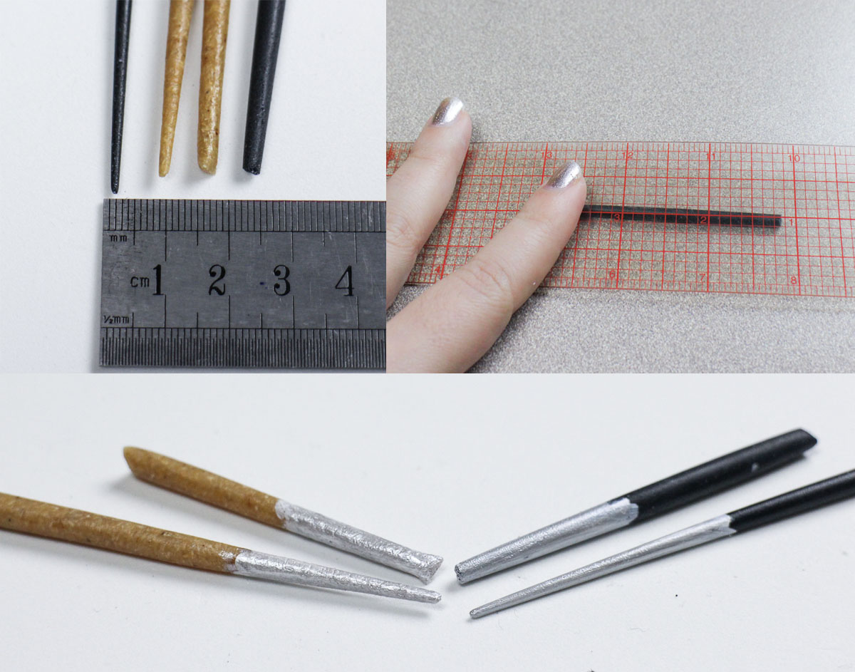 Fine details  with  Black Art and Finest Art. To achieve the thinnest  'noodles', roll with a ruler.