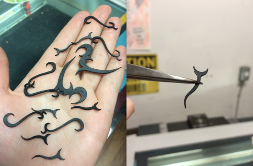 The Dangerous Ladies recently did an in-depth test on lasercutting both Worbla's Finest and Worbla's Black Art, which you can find the details of here.