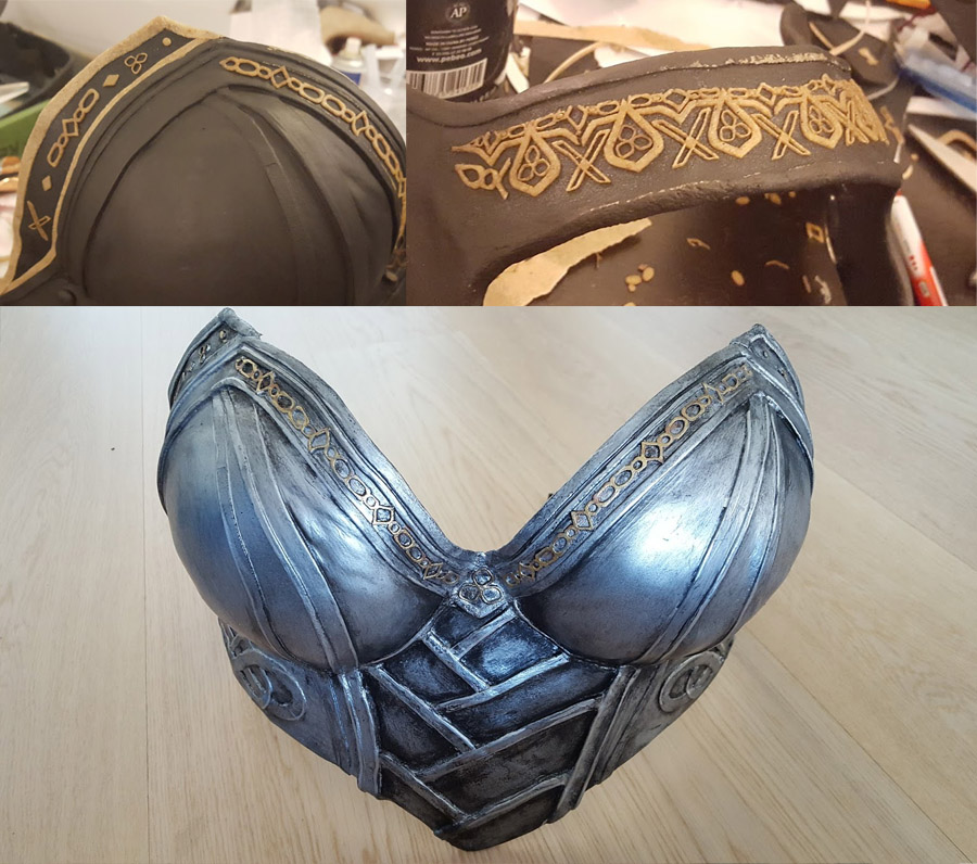 Lady Sif armor, with lasercut detail by Chrisx Design