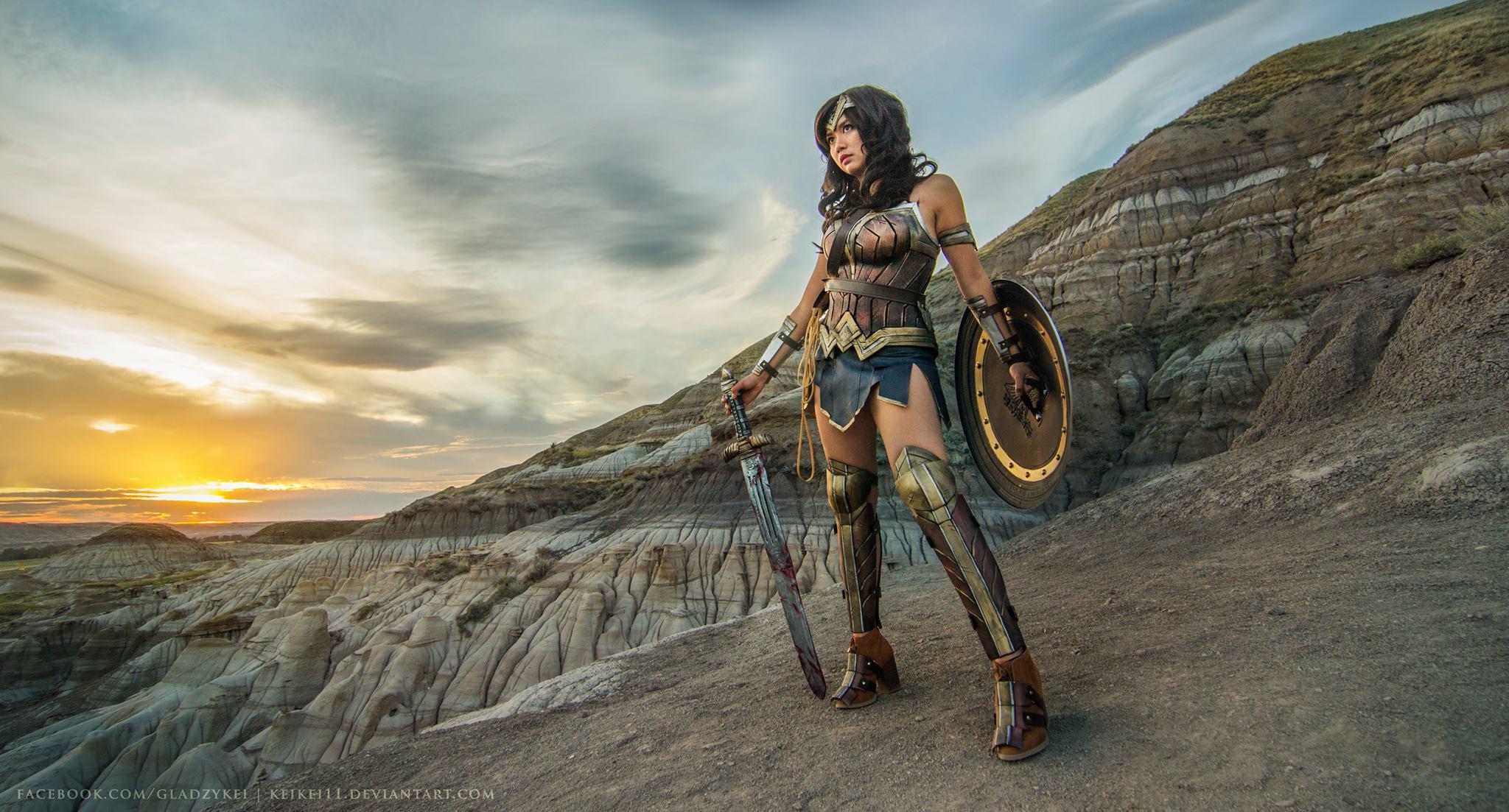 Gladzy Kei as Wonder Woman, photo by Pompey Cosplay