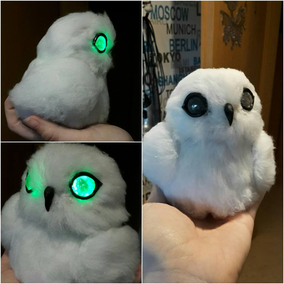 Owl eyes made with Crystal Art and Black art by Rylai