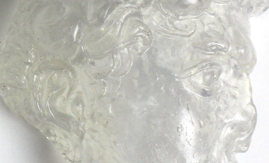 Close up of Crystal Art, showing trapped air bubbles.