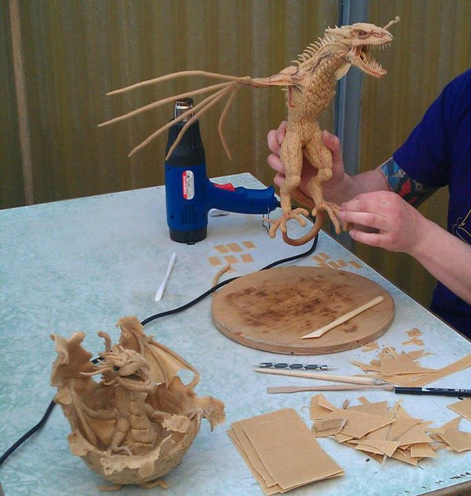 Dragon sculpted from Worbla's Finest Art by Accessories for the Universe.