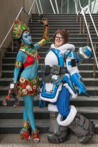 Mei and Symmetra by The CospLadies, photo by RedScarf Cosplay & Photography