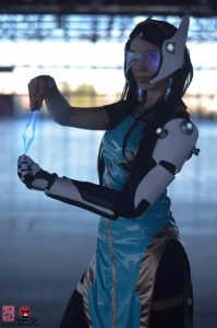 Symmetra by Hiluvia Cosplay, photo by Ana Lopez Photography
