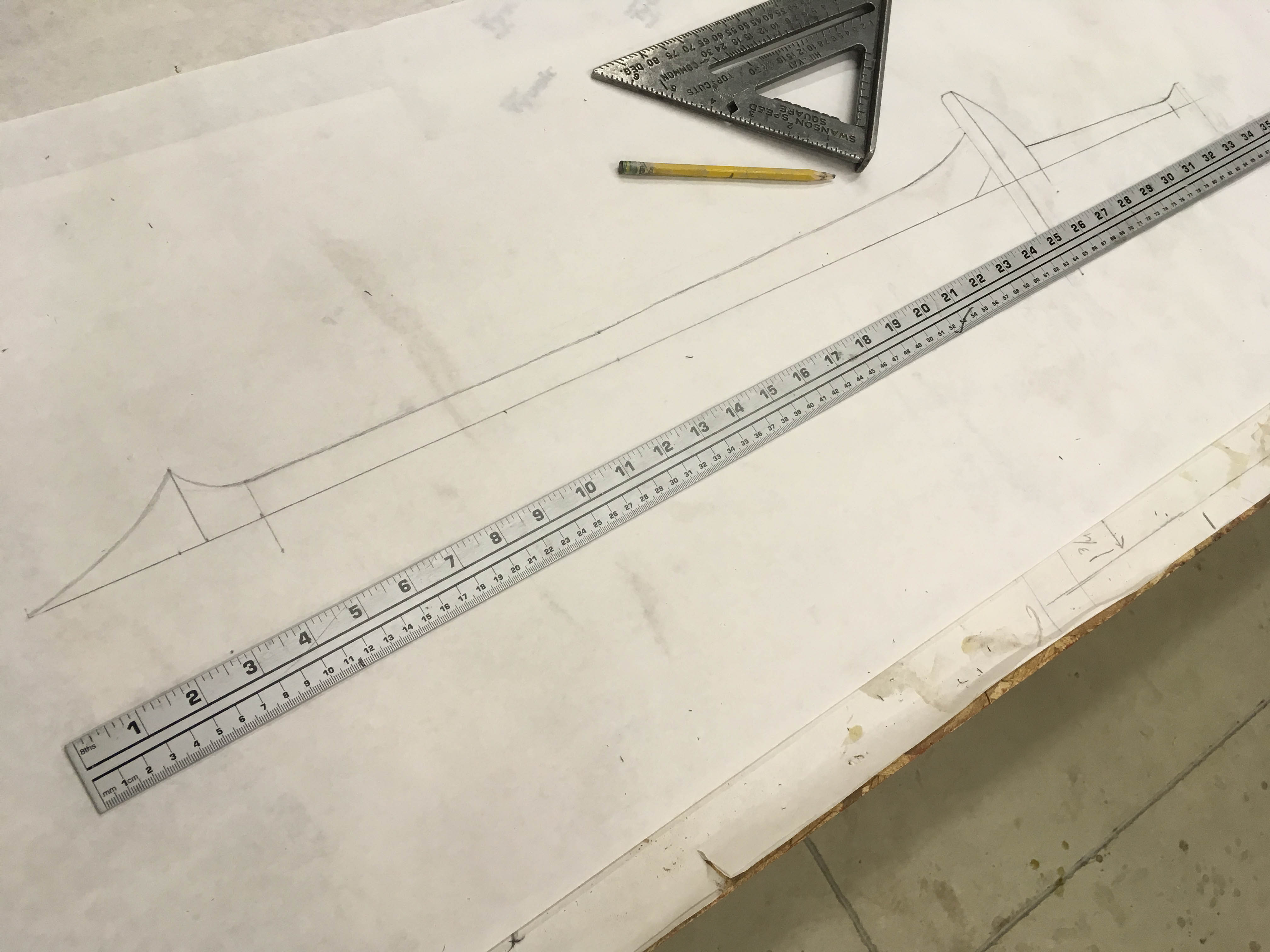 How To Build A Sword With Worbla Thermoplastics Fold An Origami As Long Your Is Symmetrical You Only Need Draw One Side Half Then Paper Over At The Center And Transfer Lines