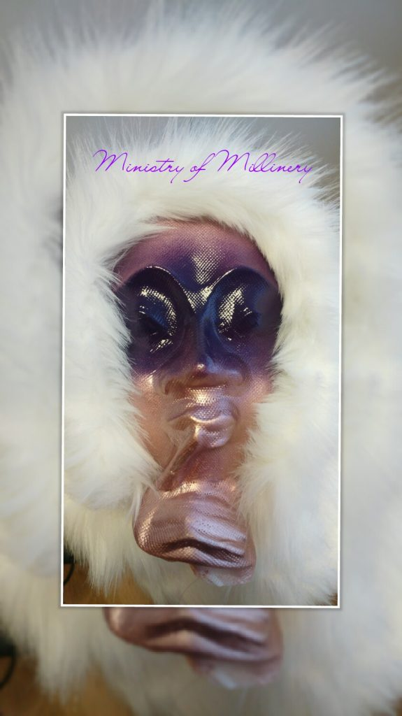 Mask by Ministry Of Millinery showing texture of unprimed Kobracast Art