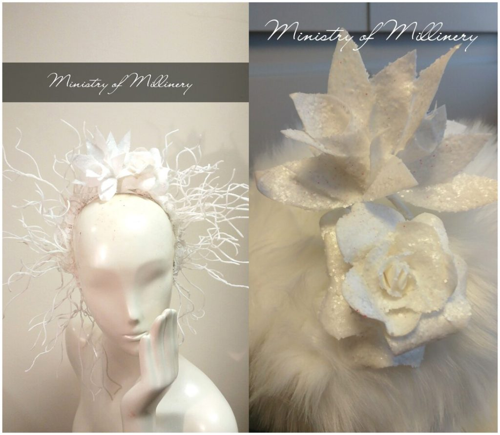Flower headpiece by Ministry Of Millinery