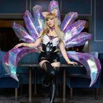 Image of Ahri costume featuring 9 translucent tails