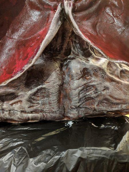 drybrushed skin